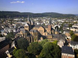 Blick auf die Trierer Domanlage